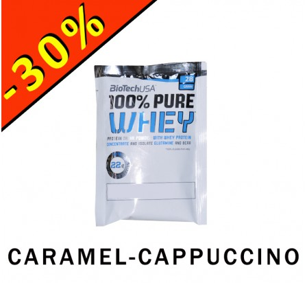 BIOTECHUSA 100% PURE WHEY caramel-cappuccino 28gr