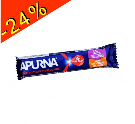 APURNA barre hyper protéinée chocolat/orange 40gr