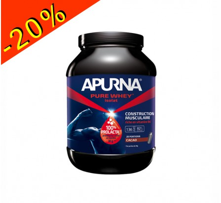 APURNA PURE WHEY ISOLAT cacao pot 2200gr construction musculaire