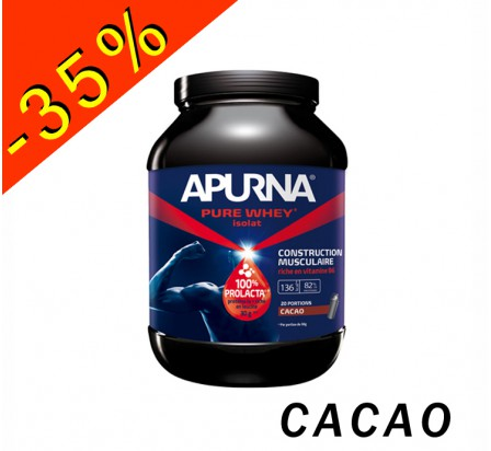APURNA PURE WHEY ISOLAT cacao pot 750gr construction musculaire