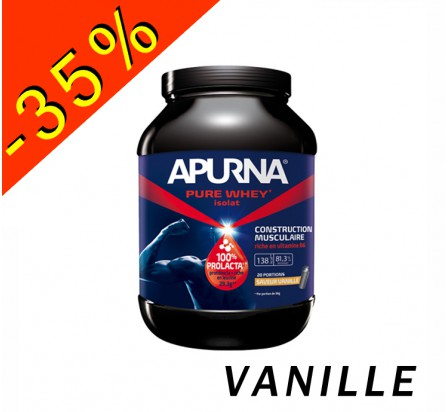 APURNA PURE WHEY ISOLAT vanille pot 750gr construction musculaire