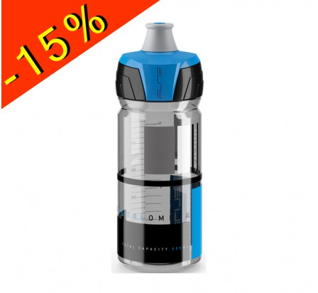 ELITE CRYSTAL OMBRA bidon hydratation fumé brillant/bleu 550ml