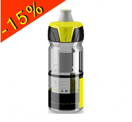 ELITE CRYSTAL OMBRA bidon hydratation fumé brillant/jaune 550ml