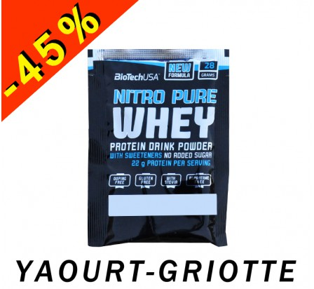 BIOTECHUSA NITRO PURE WHEY yaourt-griotte 28gr