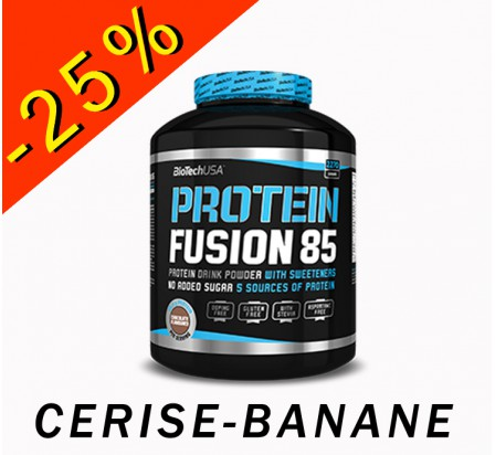 BIOTECHUSA PROTEIN FUSION 85 cerise-banane 2270gr