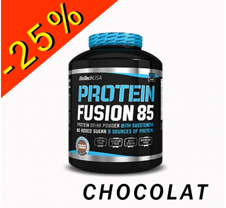 BIOTECHUSA PROTEIN FUSION 85 chocolat 2270gr