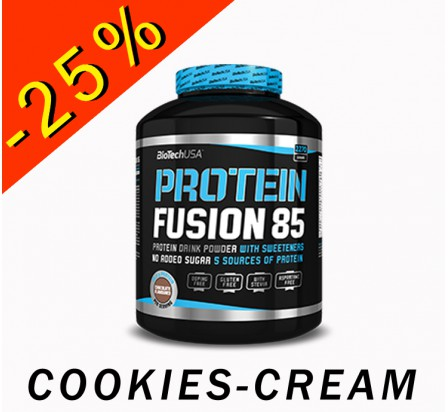 BIOTECHUSA PROTEIN FUSION 85 cookies-cream 2270gr