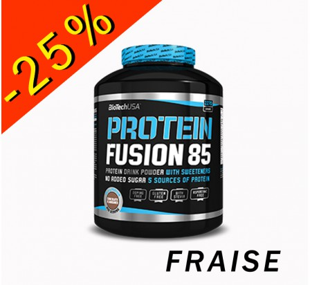 BIOTECHUSA PROTEIN FUSION 85 fraise 2270gr