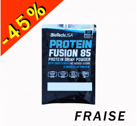 BIOTECHUSA PROTEIN FUSION 85 fraise 30gr