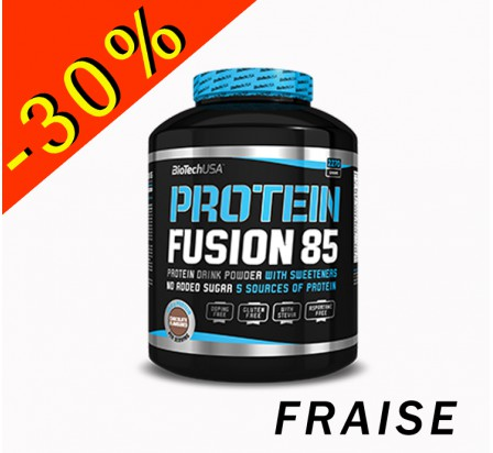 BIOTECHUSA PROTEIN FUSION 85 fraise 454gr