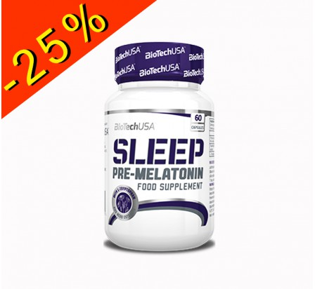 BIOTECHUSA SLEEP booster de mélatonine 60 gélules
