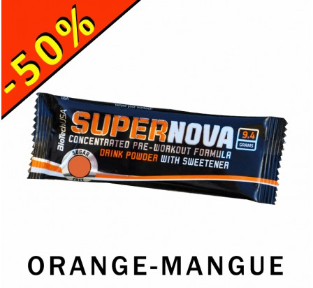 BIOTECHUSA SUPERNOVA formule booster pre workout 9,4gr orange-mangue
