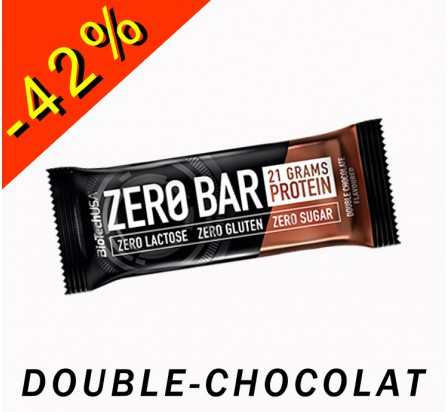 BIOTECHUSA ZERO BAR double chocolat 50gr