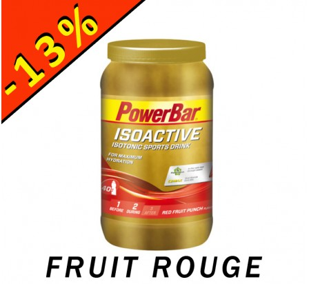 POWERBAR ISOACTIVE isotonic sports drink fruit rouge 1320gr