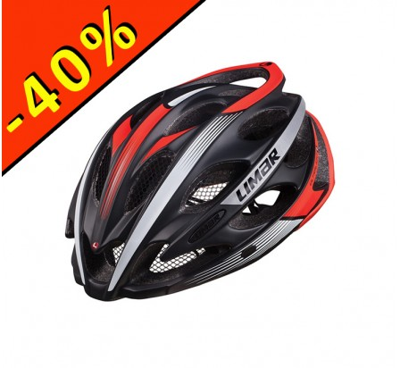 CASQUE LIMAR ULTRALIGHT+ noir-blanc-rouge