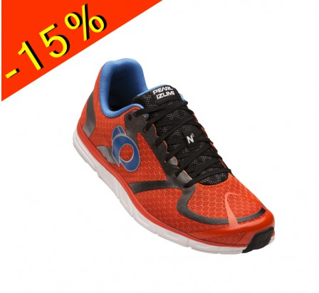 PEARL IZUMI chaussure running neutre EM ROAD N0 rouge/orange homme