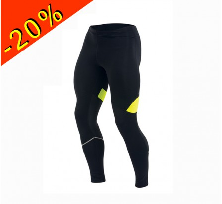 PEARL IZUMI collant running homme hiver thermal noir/jaune