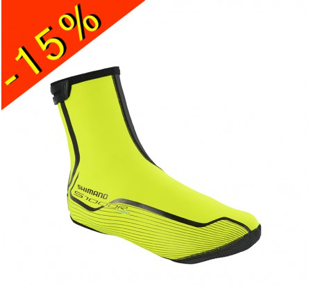 SHIMANO S1000R H20 couvres chaussures vélo route jaune fluo