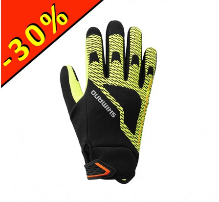 SHIMANO WINDBREAKER THERMAL gants homme cyclisme jaune fluo