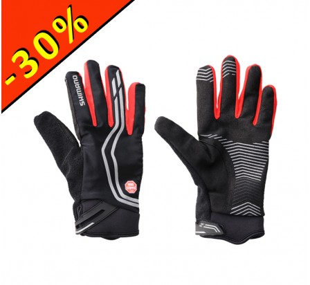 SHIMANO WINDSTOPPER INSOLATED gants homme cyclisme noir-rouge