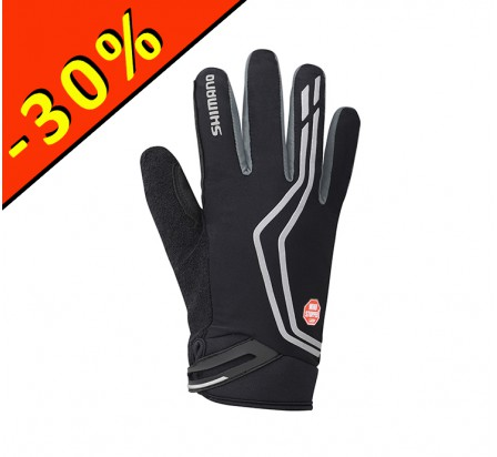 SHIMANO WINDSTOPPER INSOLATED gants homme cyclisme noir