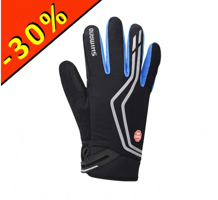 SHIMANO WINDSTOPPER INSOLATED gants homme cyclisme noir-bleu