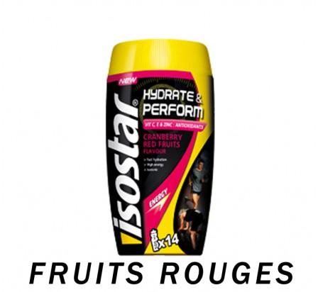 ISOSTAR hydrate & perform boisson isotonique fruits rouges 560gr