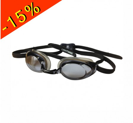 lunette de natation compétition adulte finis lightning black/smoke