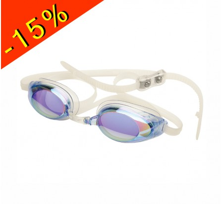 lunette de natation compétition adulte finis lightning blue mirror