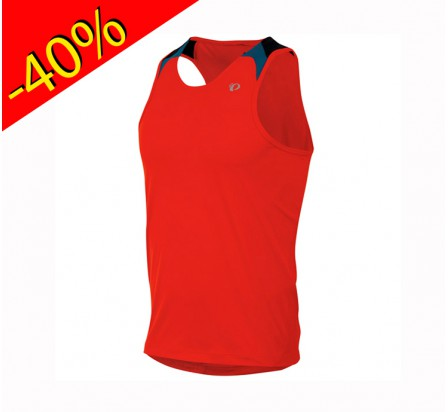 pearl izumi maillot running sans manche homme fly singlet rouge