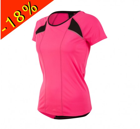 PEARL IZUMI maillot running femme manches courtes pursuit rose