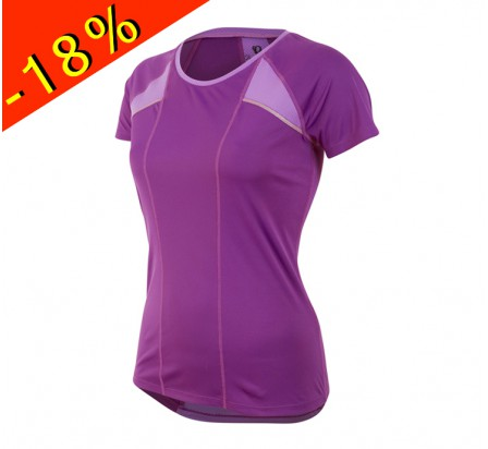 PEARL IZUMI maillot running femme manches courtes pursuit violet