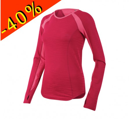 PEARL IZUMI maillot manches longues running femme mi-saison flash rose