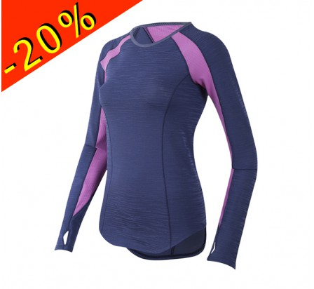 PEARL IZUMI maillot manches longues running femme mi-saison flash violet