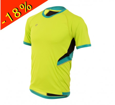 PEARL IZUMI maillot running homme manches courtes pursuit jaune