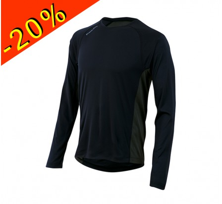 PEARL IZUMI maillot manches longues running homme mi-saison flash noir