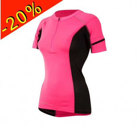 PEARL IZUMI maillot running/trail femme manches courtes pursuit rose