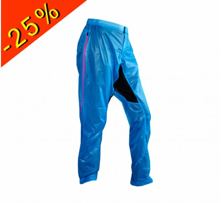 UGLOW pantalon imperméable u-pant bleu zip rose