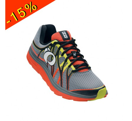 PEARL IZUMI chaussure running neutre EM ROAD N3 gris/orange homme