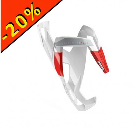 ELITE PORTE BIDON CUSTOM RACE PLUS blanc-rouge