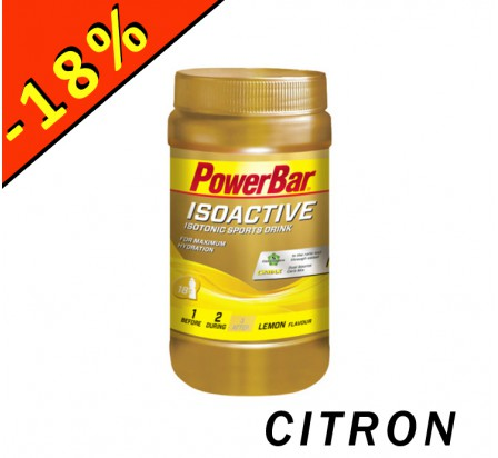 POWERBAR ISOACTIVE isotonic sports drink citron 600gr