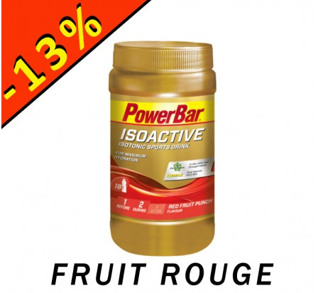 POWERBAR ISOACTIVE isotonic sports drink fruit rouge 600gr
