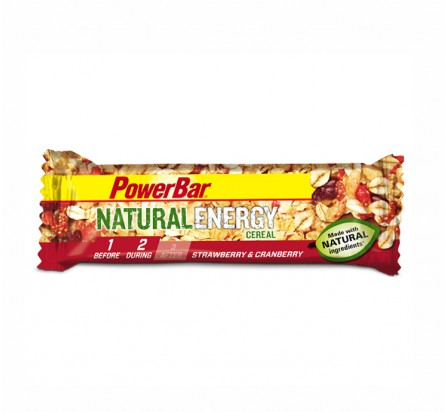 POWERBAR natural energy cereal fraise canneberge 40gr