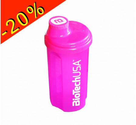 BIOTECHUSA shaker musculation rose fluo 700ml