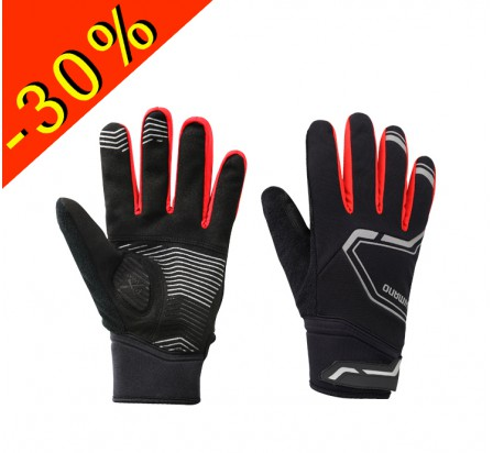 SHIMANO EXTREME WINTER gants homme cyclisme noir-rouge