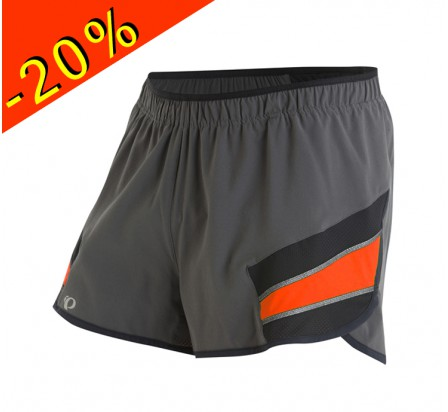 PEARL IZUMI short running homme court pursuit 3 gris/orange