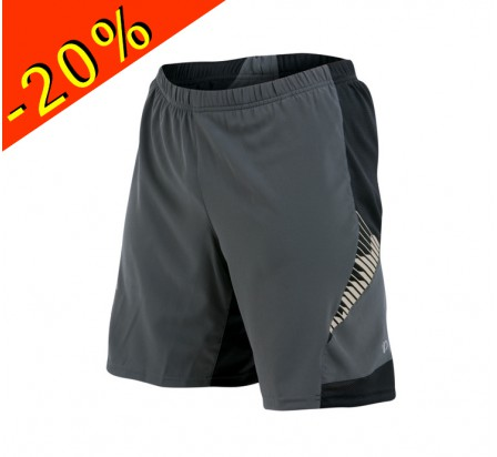 PEARL IZUMI short trail homme long flash 2 en 1 gris
