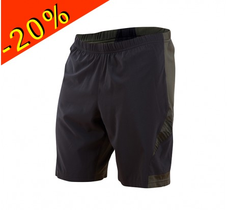 PEARL IZUMI short trail homme long flash 2 en 1 noir/gris