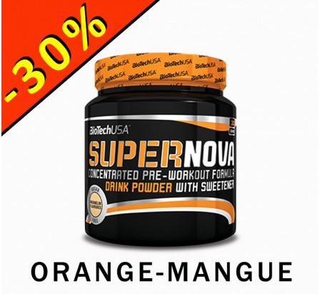BIOTECHUSA SUPERNOVA formule booster pre workout 282gr orange-mangue