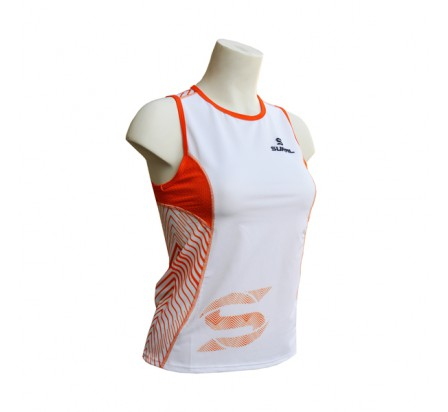 SURAL MARYLAND maillot technique running femme blanc/orange